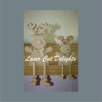 Edge Dangling Leg or Freestanding 3D REINDEER 18mm