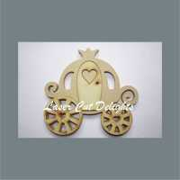 Princess Pumpkin Carriage Chariot 18mm / Laser Cut Delights