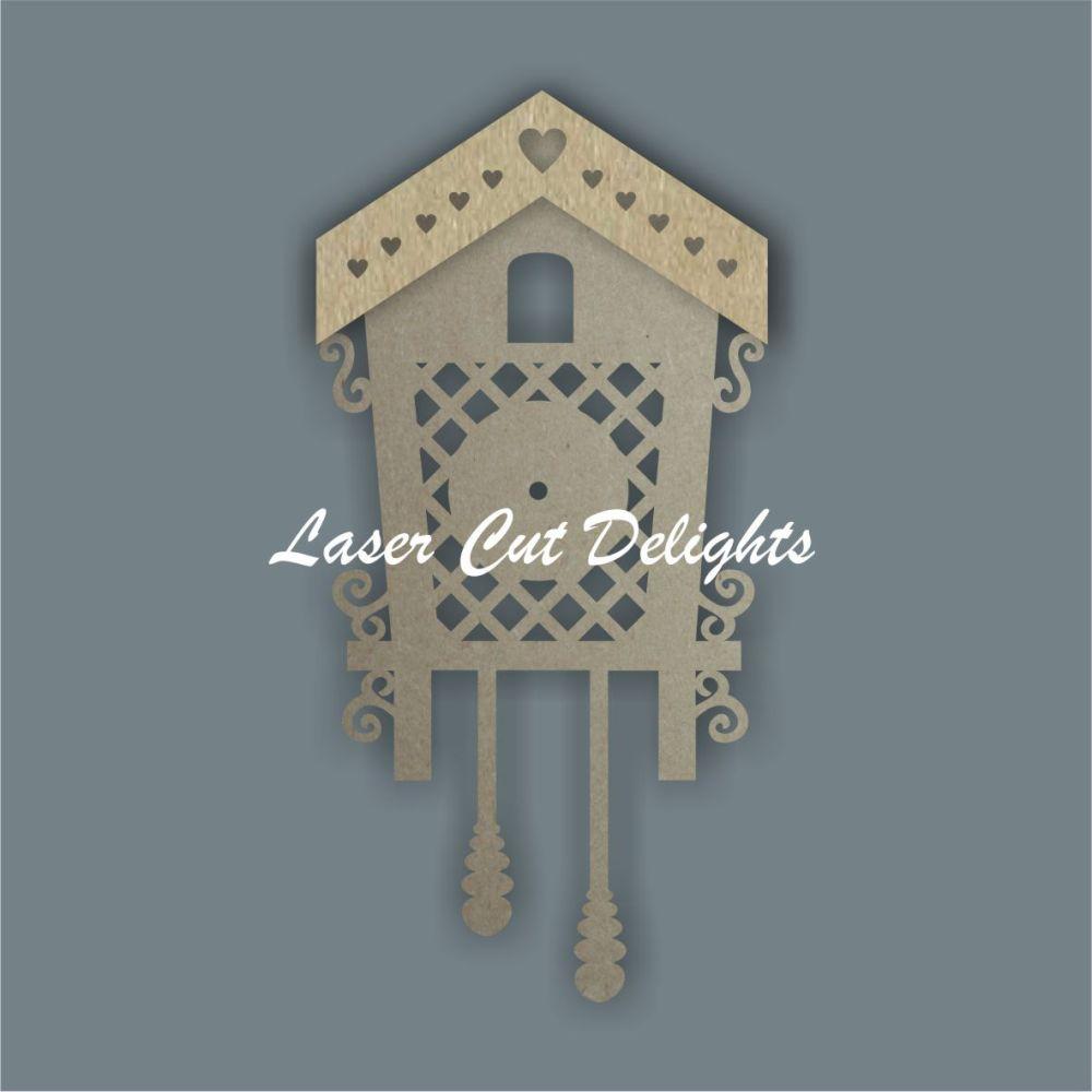 CLOCK - 3D Cuckoo / Laser Cut Delights