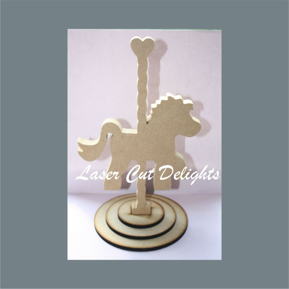 Carousel with Horse or Unicorn 18mm / Laser Cut Delights