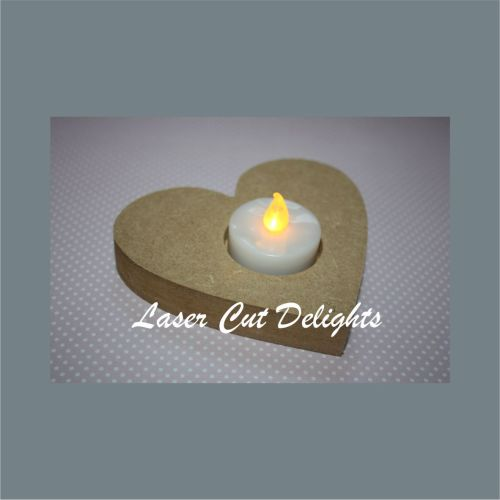 Candle Holder Heart 18mm 12cm