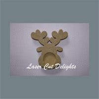 Candle Holder Reindeer 18mm 12cm