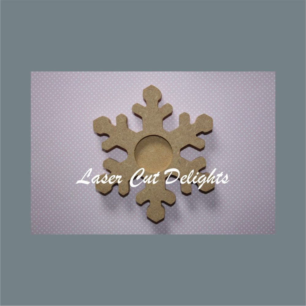 Candle Holder Snowflake 18mm 14cm