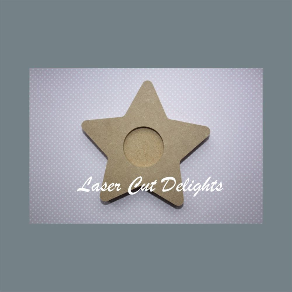 Candle Holder Star 18mm 12cm