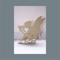 Fairy Crouching Holding Heart or Star 18mm / Laser Cut Delights