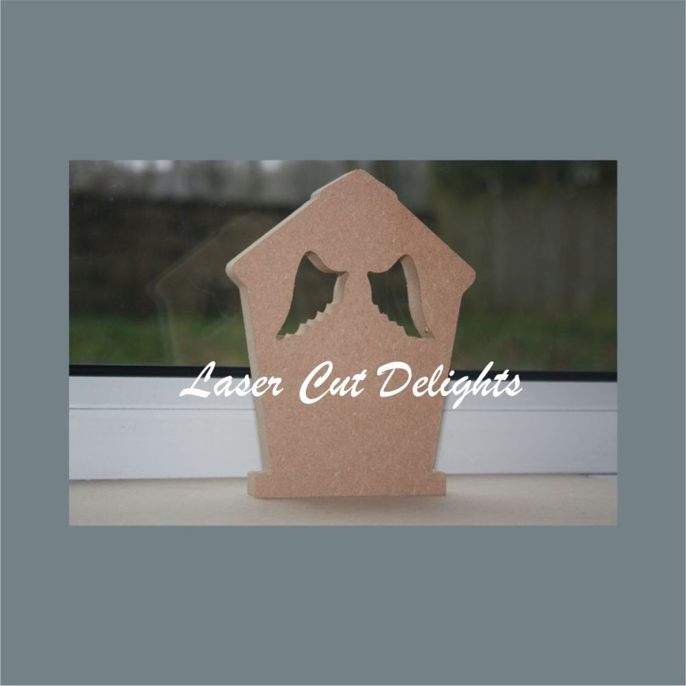Bird House with wings cut out 18mm