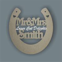 Horseshoe Personalised Wedding Details 15cm 3mm