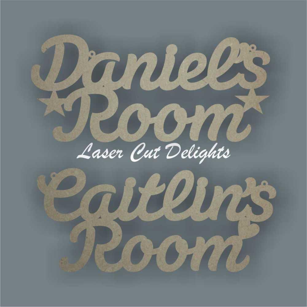 Name Bedroom Playroom Room 3mm