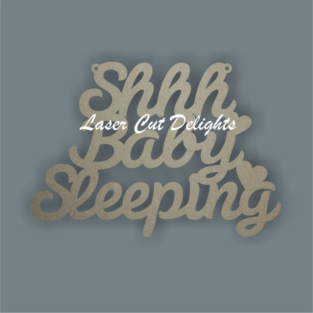 Shhh...Baby Prince or Princess Sleeping (WORDING) 3mm