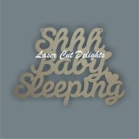 Shhh Baby Prince or Princess Sleeping (WORDING) / Laser Cut Delights