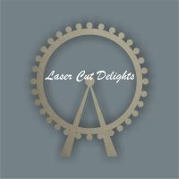 London Eye Ferris Wheel 3mm 10cm / Laser Cut Delights