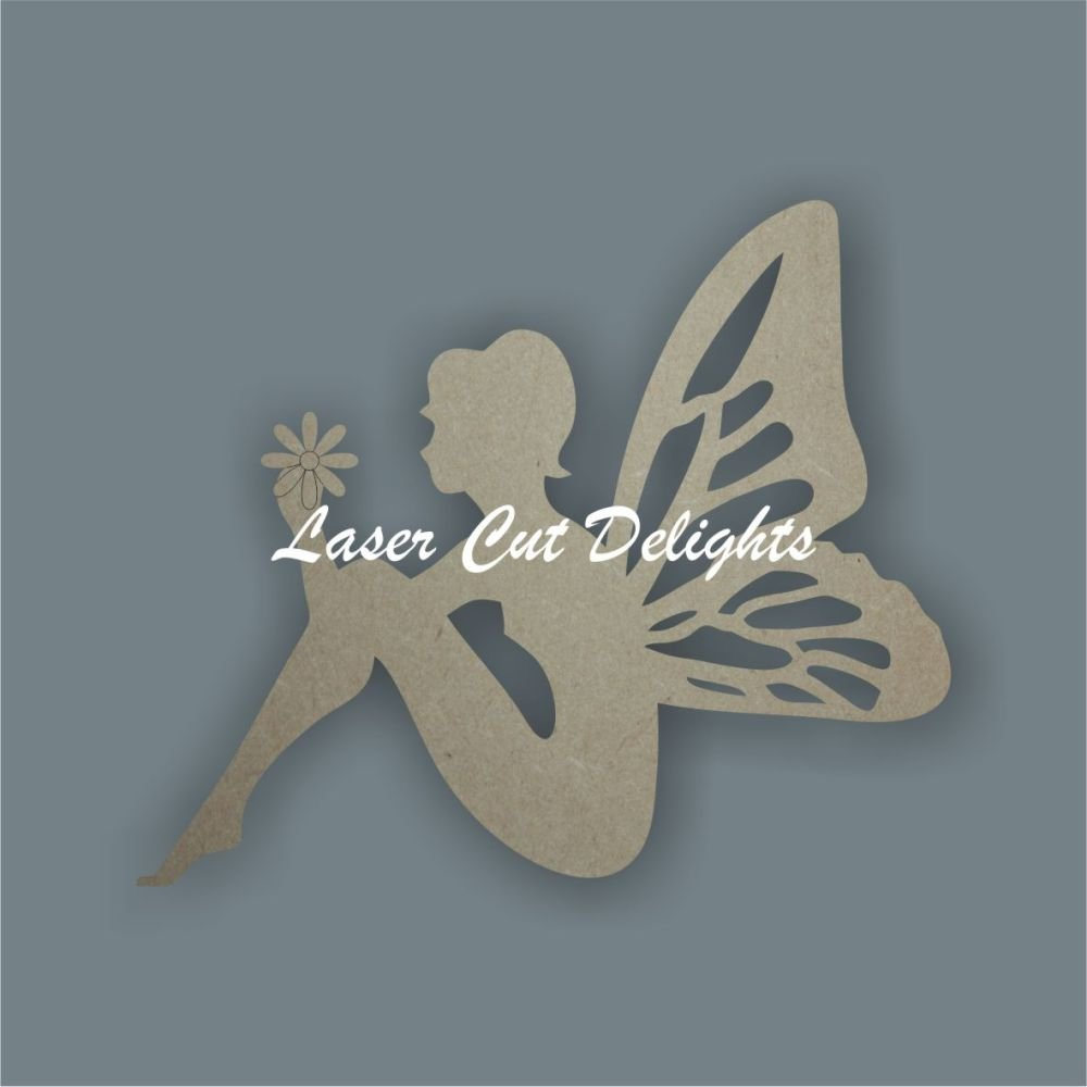 Fairy holding flower / Laser Cut Delights