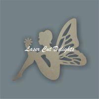 Fairy holding flower / Laser Cut Delights