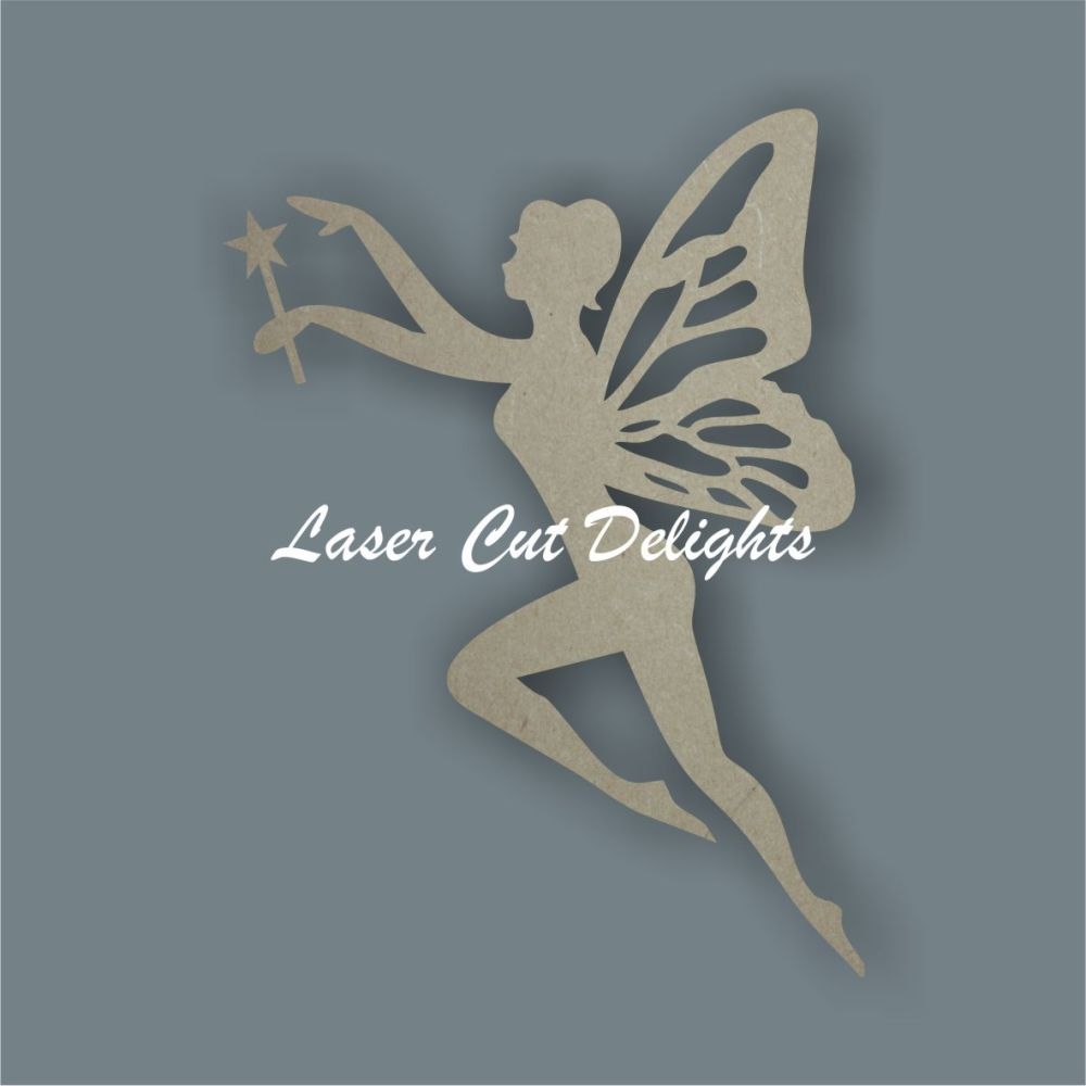 Fairy flying with wand / Laser Cut Delights
