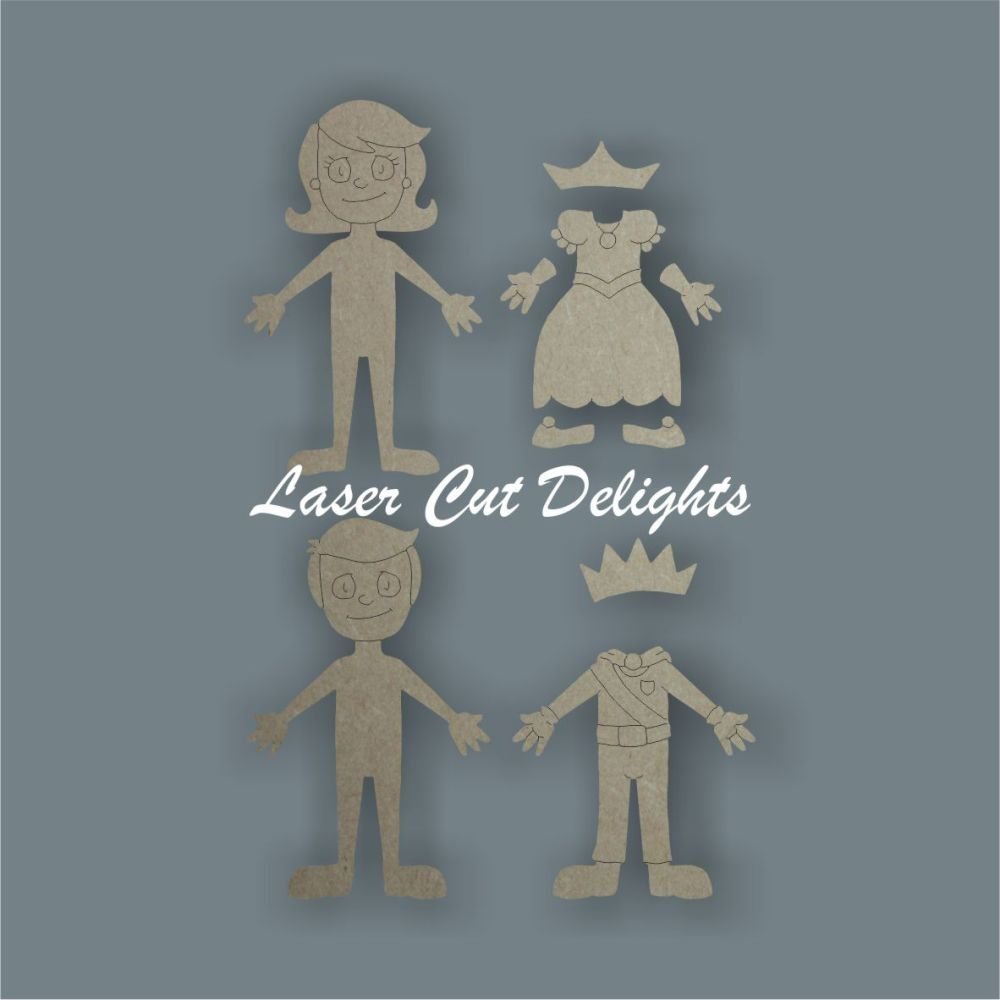 3D Family Character Prince or Princess / Laser Cut Delights