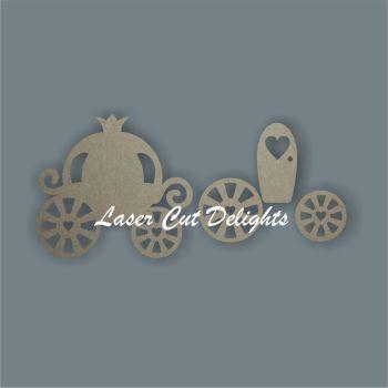 Princess Carriage 3D / Laser Cut Delights