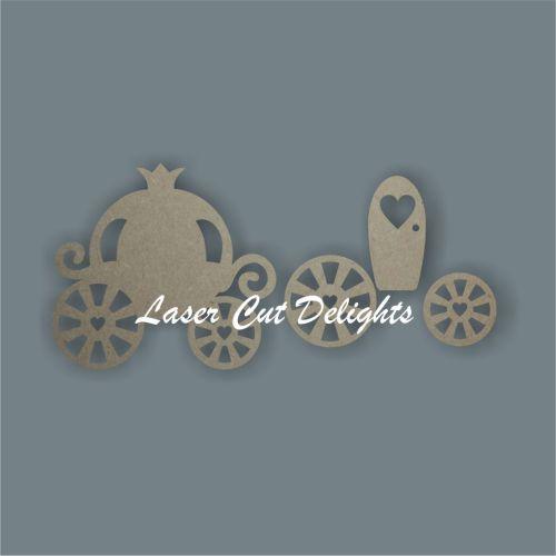 Princess Carriage 3D 3mm 20cm