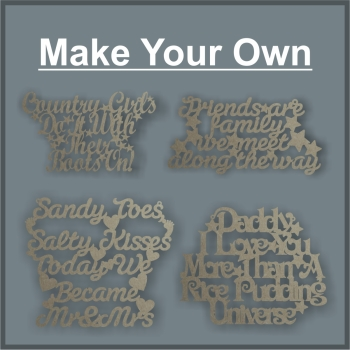 *Create a QUOTE PLAQUE SIGN / Laser Cut Delights