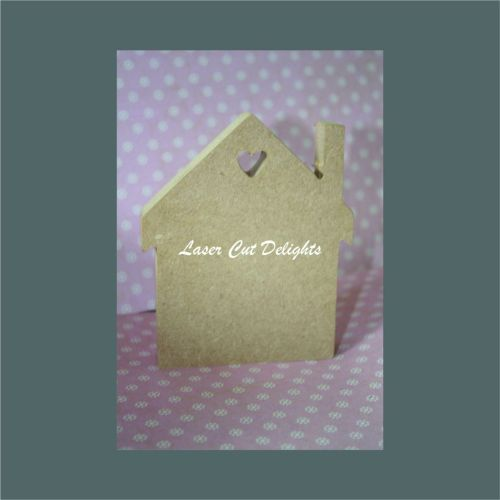 House with heart cut out 18mm