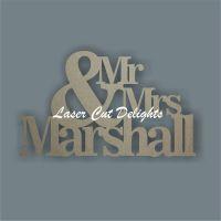 Mr & Mrs Surname 18mm / Laser Cut Delights