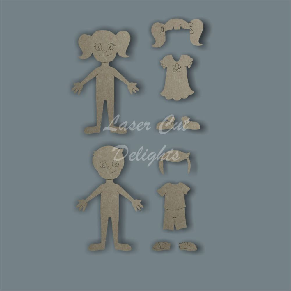 3D Family Character / Laser Cut Delights