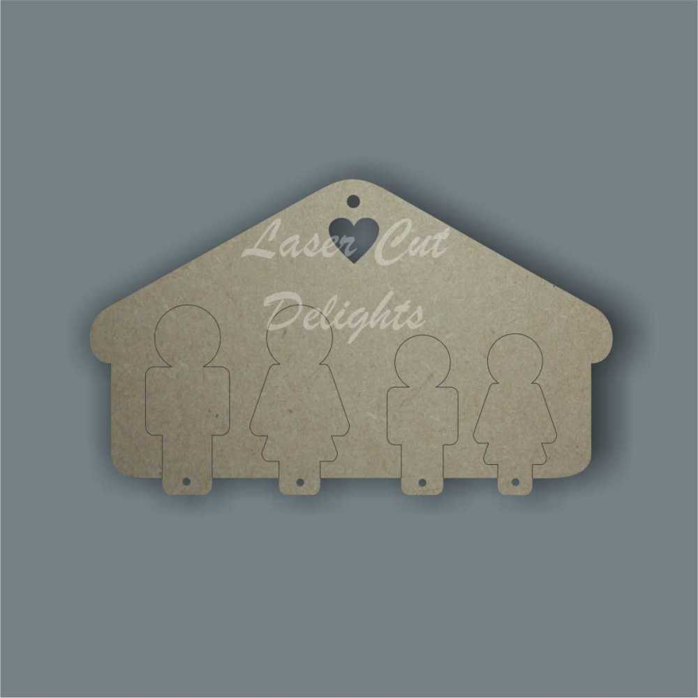 3D Key Holder (up to 8 people) / Laser Cut Delights