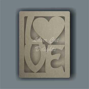 3D Love Frame / Laser Cut Delights
