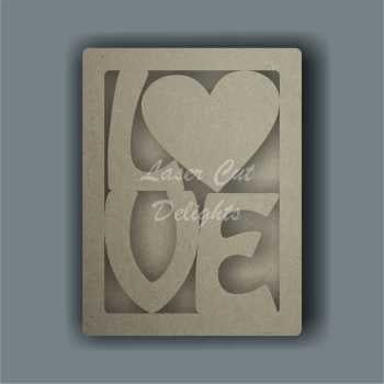 3D Love Frame 3mm 20cm