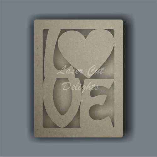 3D Love Frame 3mm 20cm