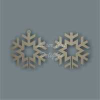 3D Snowflake (star centre) Bauble / Laser Cut Delights