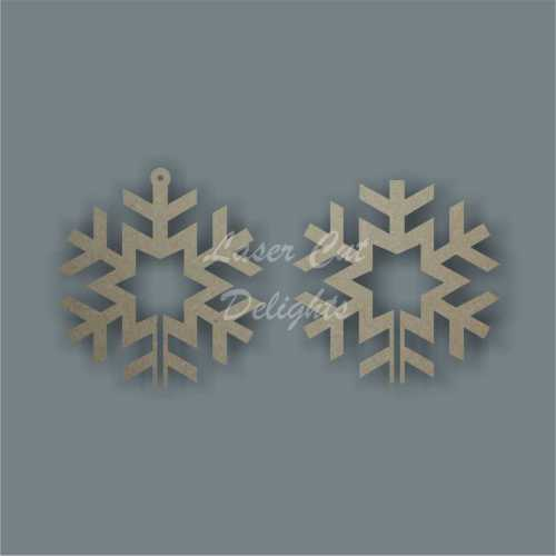 3D Snowflake (star centre) 10cm 3mm