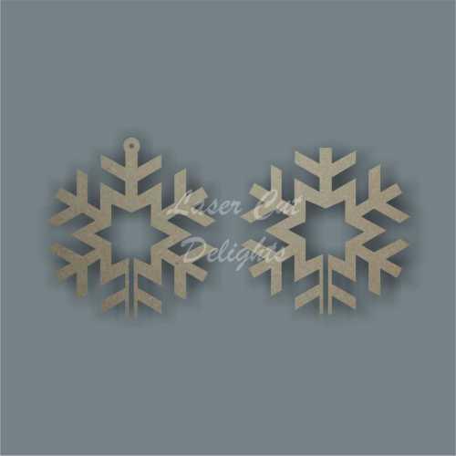 3D Snowflake (star centre) 10cm 3mm