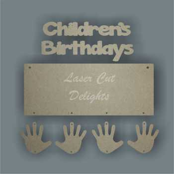 Children's Birthdays 3mm 25x10cm