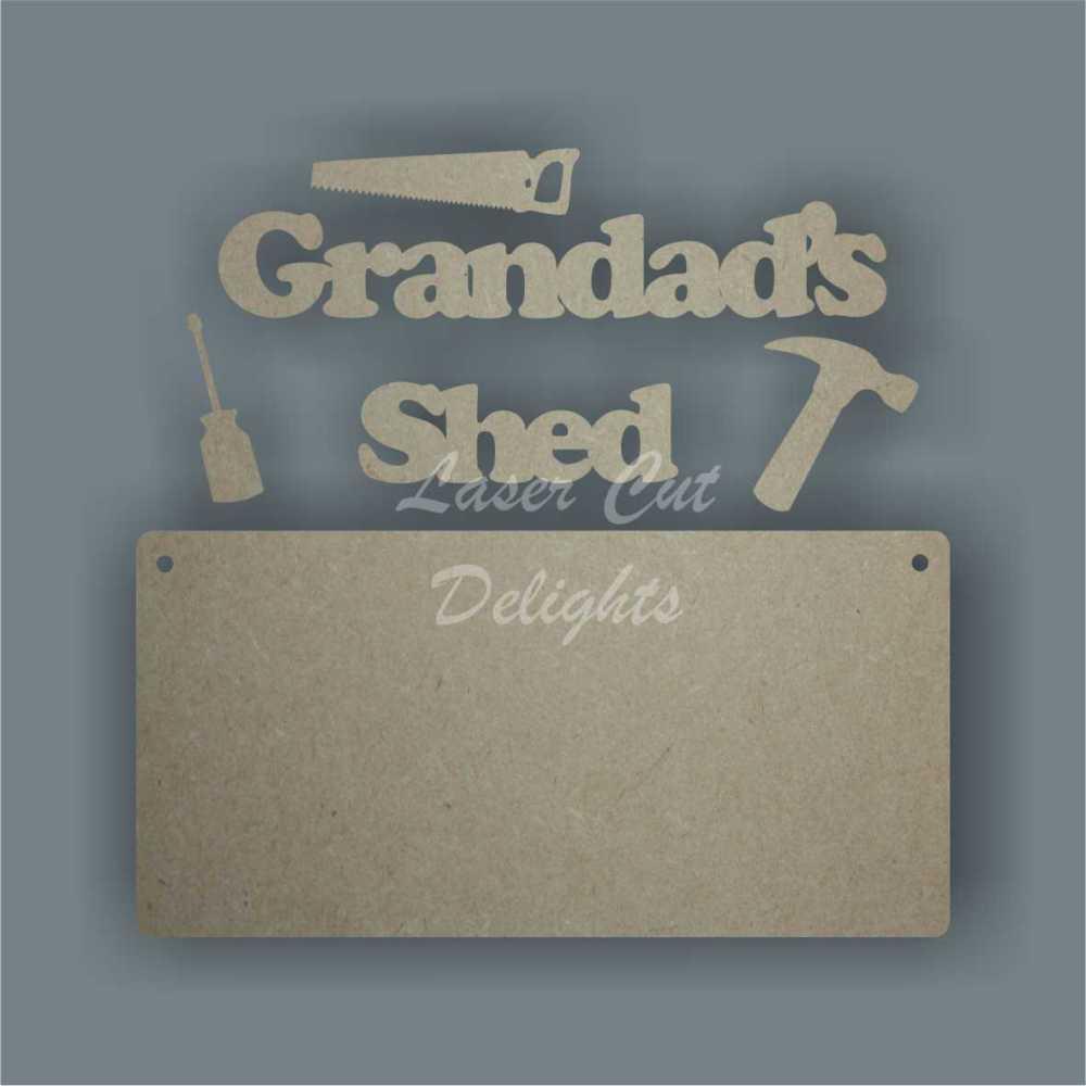 Daddy's Grandad's Grandpa's WORKSHOP SHED GARAGE ROOM (Various tools) 3mm (