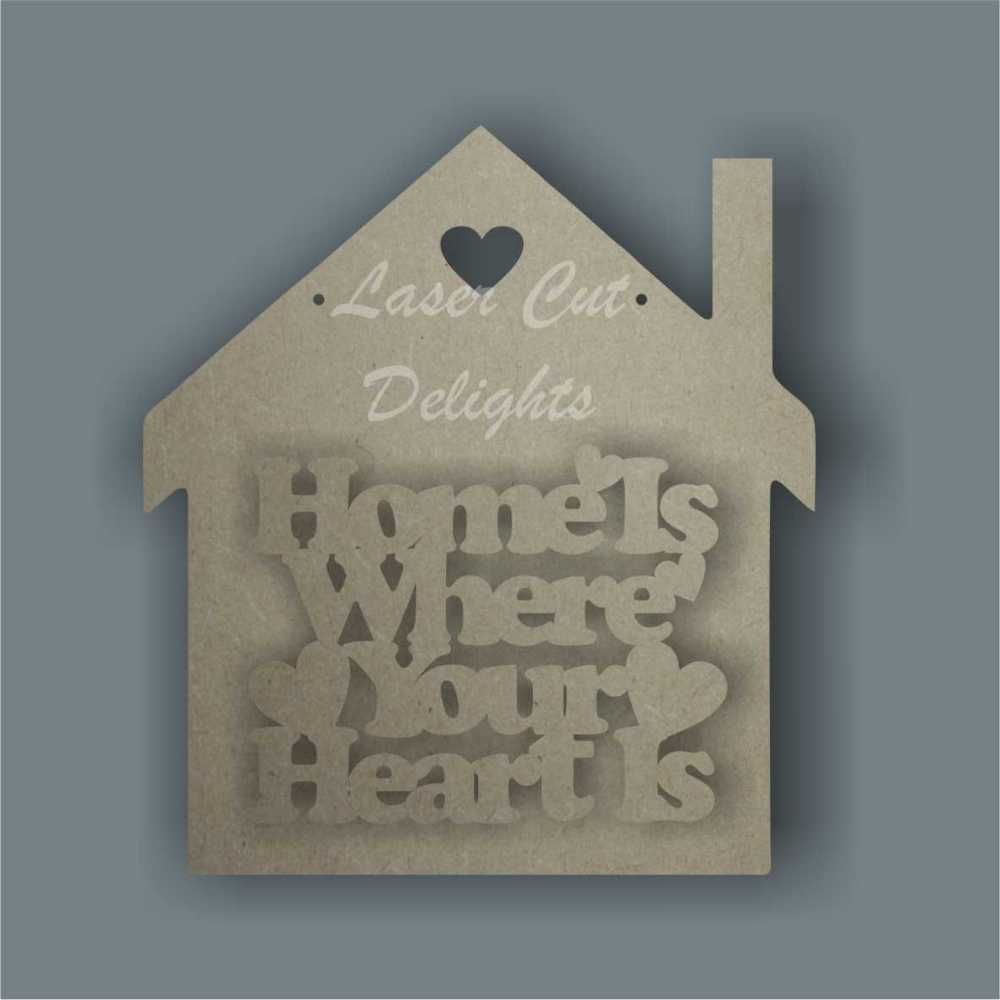 House 3D - Home is Where Your Heart Is / Laser Cut Delights