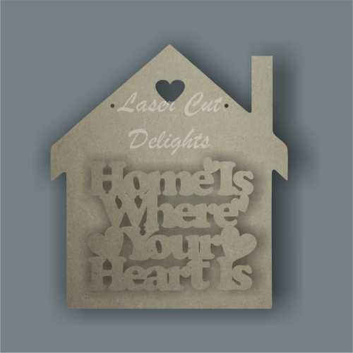 House - Home is Where Your Heart Is 3mm 20cm