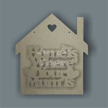 House 3D - Home is where your mum is / Laser Cut Delights
