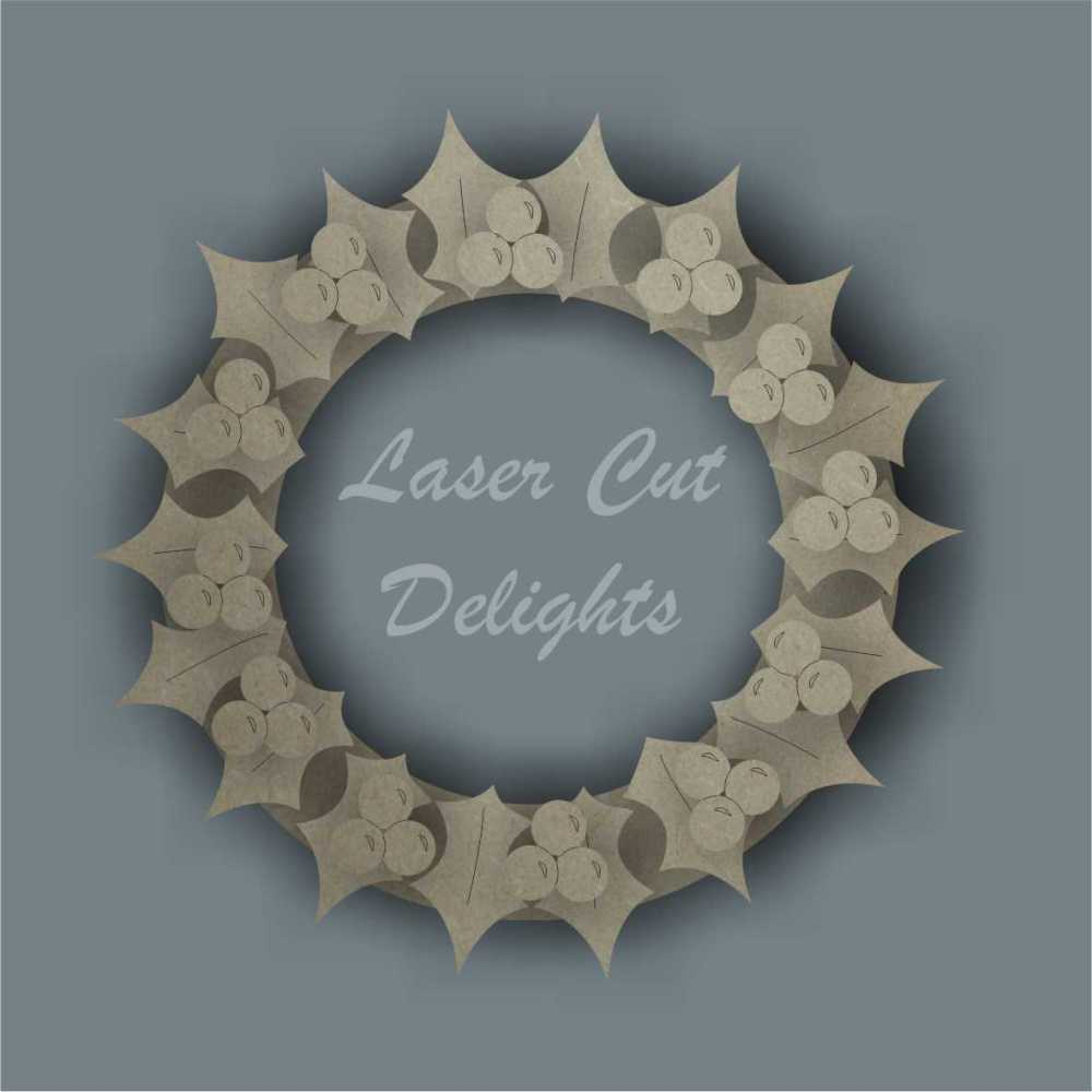 Wreath 3D / Laser Cut Delights