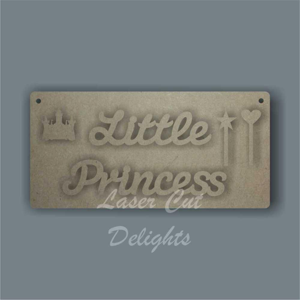 Little Princess Plaque 3mm 20x10cm