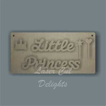 Little Princess Plaque 3mm 20x10cm