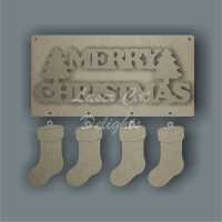 Merry Christmas (English or Welsh) 3mm 20x10cm