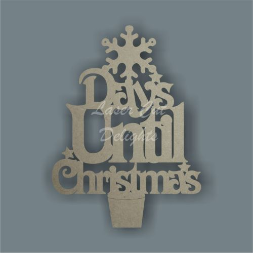 Countdown Days Until Christamas with SNOWFLAKE 3mm