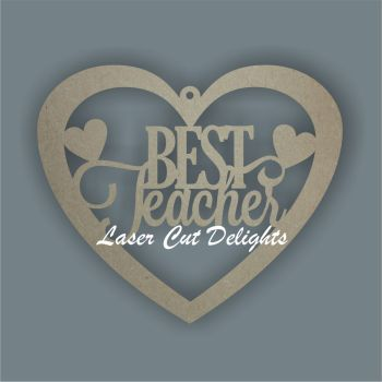 Heart Fancy - Best Teacher / Laser Cut Delights