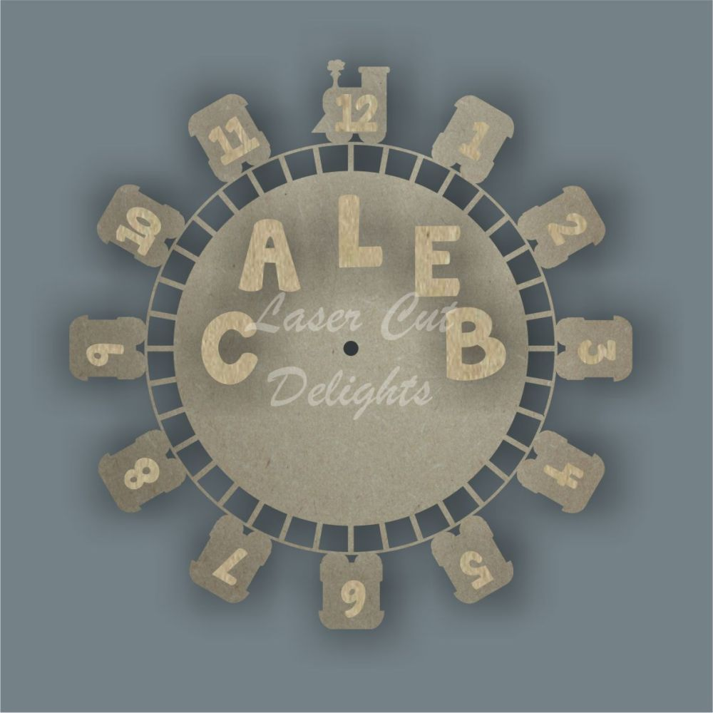 personalised train clock design