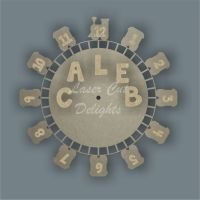 CLOCK - Train & Tracks / Laser Cut Delights