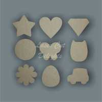 Shapes for Guest Books Drop Boxes and Reward Charts (MDF & Acyrlic) / Laser Cut Delights