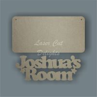 Room Sign Personalised 3mm 20x10cm