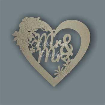 Floral Heart - Wedding Variations 3mm