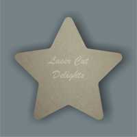 Star (curved edges) / Laser Cut Delights
