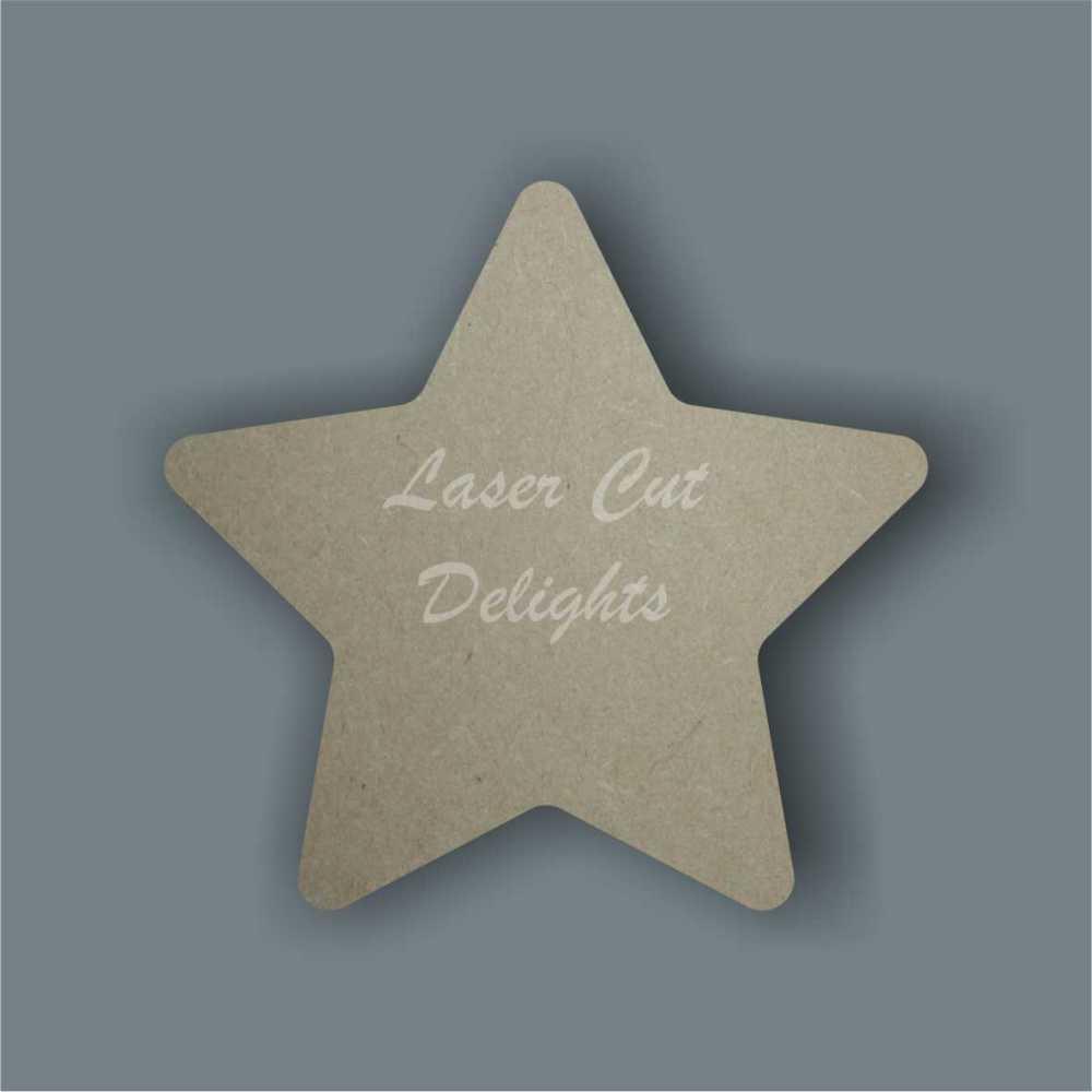 Star - curved edges 18mm 15cm